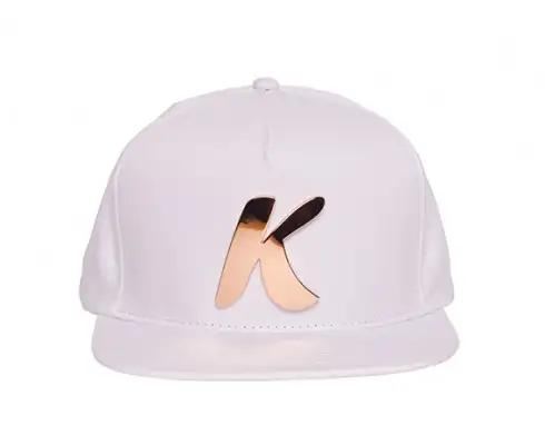 Snapback Hat (White/Rose Gold)